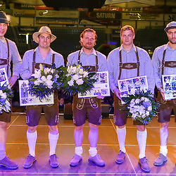 Folgende Spieler verlassen die Mannschaft des ERC Ingolstadt nach der Saison 2015/2016<br /> von links: 7 Brian Lebler (Spieler ERC Ingolstadt), 42 Jared Ross (Spieler ERC Ingolstadt), 33 Bjoern Barta (Spieler ERC Ingolstadt), 7 Brian Lebler (Spieler ERC Ingolstadt) und 8 Stephan Kronthaller (Spieler ERC Ingolstadt)<br /> ERC Ingolstadt Saisonabschlussfest in Ingolstadt in der Saturnarena am 20.03.16 in der Saison 2015/2016.<br /> <br /> <br /> Foto © PIX-Sportfotos *** Foto ist honorarpflichtig! *** Auf Anfrage in hoeherer Qualitaet/Aufloesung. Belegexemplar erbeten. Veroeffentlichung ausschliesslich fuer journalistisch-publizistische Zwecke. For editorial use only.