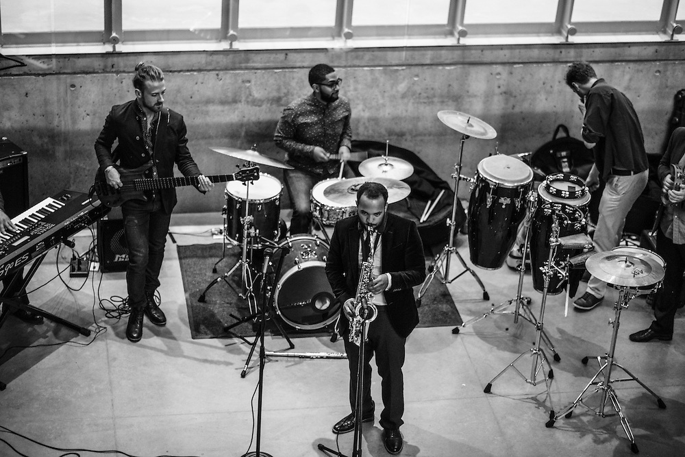 The Admirables perform at the Akron Art Museum during the finale reception of Akron Art Prize 2015