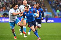 Camille LOPEZ / Luke McLEAN - 15.03.2015 - Rugby - Italie / France - Tournoi des VI Nations -Rome<br /> Photo : David Winter / Icon Sport