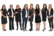 Group Portrait of women shot at different times under COVID restrictions.