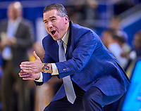 Middle Tennessee Blue Raiders head coach Nick McDevitt during the Southern Mississippi Golden Eagles at Middle Tennessee Blue Raiders college basketball game in Murfreesboro, Tennessee, Saturday, March, 7, 2020.<br /> Photo: Harrison McClary/All Tenn Sports