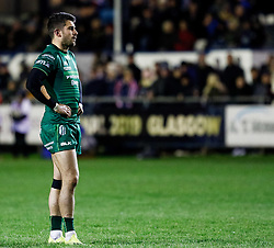 Tiernan O'Halloran of Connacht<br /> <br /> Photographer Simon King/Replay Images<br /> <br /> Guinness PRO14 Round 7 - Ospreys v Connacht - Friday 26th October 2018 - The Brewery Field - Bridgend<br /> <br /> World Copyright © Replay Images . All rights reserved. info@replayimages.co.uk - http://replayimages.co.uk