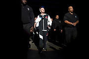 DALLAS, TX - MAY 13:  Jason Knight walks to the Octagon before fighting Chas Skelly during UFC 211 at the American Airlines Center on May 13, 2017 in Dallas, Texas. (Photo by Cooper Neill/Zuffa LLC/Zuffa LLC via Getty Images) *** Local Caption *** Jason Knight