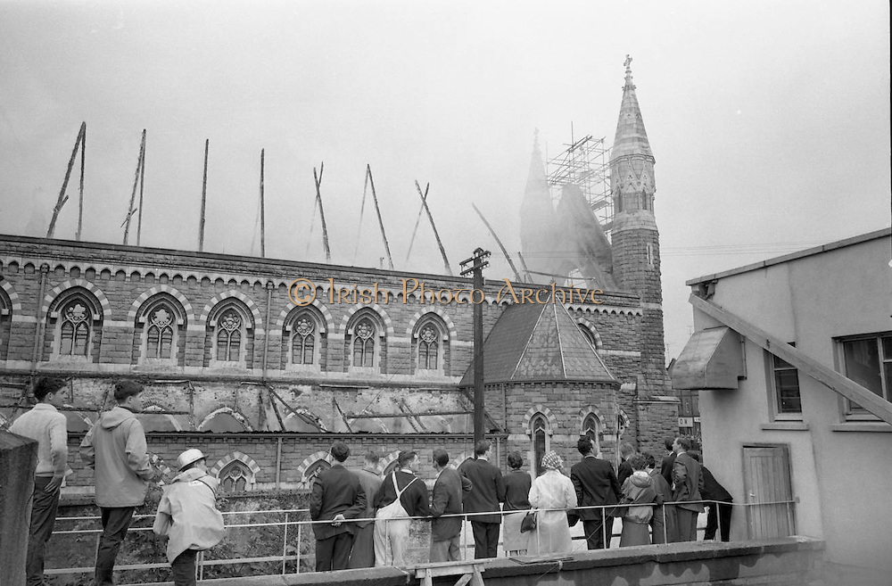 Fire at St Michael's Church, Dun Laoghaire, Co. Dublin.28/07/1965