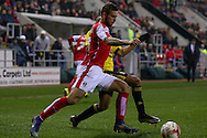 Rotherham United defender Joe Mattock (3)  clears the ball during the Sky Bet Championship match between Rotherham United and Middlesbrough at the New York Stadium, Rotherham, England on 8 March 2016. Photo by Simon Davies.
