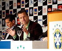 20100511: RIO DE JANEIRO, BRAZIL - Brazil's National Team coach Carlos Dunga announces Brazilian team list for 2010 World Cup. In picture: Carlos Dunga (head coach) and Jorginho (assistant coach, L). PHOTO: CITYFILES