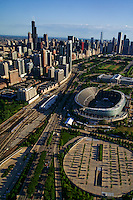 Chicago Skyline featuring Soldier Field