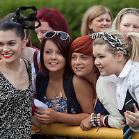 Picture shows : Jessie J meets fans prior to the shows..Clyde 1 Live.SECC, Glasgow..30th September 2011.Picture  © Drew Farrell Tel 07721-735041. .Note to Editors:  This image is free to be used editorially in the promotion of the Clyde 1 Live. Without prejudice ALL other licences without prior consent will be deemed a breach of copyright under the Copyright, Designs and Patents Act 1988.