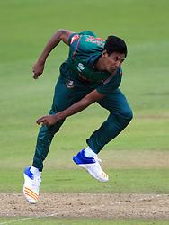Bangladesh's Mustafizur Rahman during the ICC Champions Trophy, Group A match at Sophia Gardens, Cardiff.