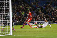 Lewis Baker (Vitesse Arnhem, loan from Chelsea), England U21 goes close on goal during the UEFA European Championship Under 21 2017 Qualifier match between England and Switzerland at the American Express Community Stadium, Brighton and Hove, England on 16 November 2015. Photo by Phil Duncan.