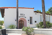 The Brea Museum and Historical Society on Brea Boulevard and Elm Street