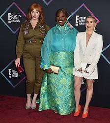 Christina Hendricks, Retta, Mae Whitman attend the People's Choice Awards 2018 at Barker Hangar on November 11, 2018 in Santa Monica, CA, USA. Photo by Lionel Hahn/ABACAPRESS.COM