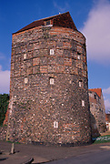 A752PF Medieval tower and town wall Great yarmouth Norfolk England
