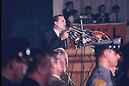 George Wallace  speaking at an event in Philadelphia. PA in May 1967.<br />Note this was an assignment for the NEW YORK TIMES SUNDAY MAGAZINE.<br />Photo by Dennis Brack bb72