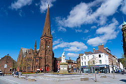 View of Dumfries town in Dumfries and  Galloway, Scotland, UK
