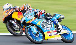 October 21, 2017 - Melbourne, Victoria, Australia - Spanish rider Aron Canet (#44) of Estrella Galicia 0,0 (R) and Italian rider Niccolo Antonelli (#23) of Red Bull KTM Ajo in action during the third free practice session at the 2017 Australian MotoGP at Phillip Island, Australia. (Credit Image: © Theo Karanikos via ZUMA Wire)