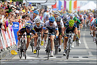 Sykkel<br /> Tour de France 2011<br /> 04.07.2011<br /> Foto: PhotoNews/Digitalsport<br /> NORWAY ONLY<br /> <br /> 3rd stage / Olonne-sur-mer - Redon<br /> <br /> FARRAR Tyler (TEAM GARMIN - CERVELO - USA) - FEILLU Romain (VACANSOLEIL-DCM - FRA) - ROJAS Jose Joaquin (MOVISTAR TEAM - ESP) - HUSHOVD Thor (TEAM GARMIN - CERVELO - NOR) - DEAN Julian (TEAM GARMIN - CERVELO - NZL)