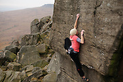 Katy Whittaker on Back in the YMCA, Stanage