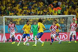 Fred na partida contra a Croácia na estréia da Copa do Mundo 2014, na Arena Corinthians, em São Paulo. FOTO: Jefferson Bernardes/ Agência Preview