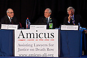 Judge - Sir Louis Bloom-Cooper QC, associate tenant at Doughty Street Chambers. (Left)..Judge - The RT HON. Lord Wolfe of Barnes. Lord Chief Justice of England and Wales 200 - 2005.  (Centre)..Judge Geoffrey Robertson QC, joint head at Doughty Street Chambers.  (Right)