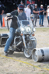 Harley-Davidson HOG field games at the Full Throttle Saloon during the Sturgis Motorcycle Rally. SD, USA. Thursday, August 12, 2021. Photography ©2021 Michael Lichter.