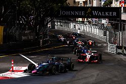 May 25, 2018 - Montecarlo, Monaco - Race start leaded by 05 Alexander ALBON from Thailand of DAMS during the Monaco Formula Two race 1  at Monaco on 25th of May, 2018 in Montecarlo, Monaco. (Credit Image: © Xavier Bonilla/NurPhoto via ZUMA Press)