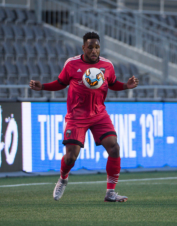 OTTAWA, ON - MAY 03: Amway Canadian Championship match between the Ottawa Fury FC and FC Edmonton at TD Place Stadium in Ottawa, ON. Canada on May 3, 2017.<br /> <br /> PHOTO: Steve Kingsman/Freestyle Photography/Ottawa Fury FC
