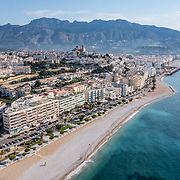 Aerial view of Altea town in the province of Alicante. Spain.