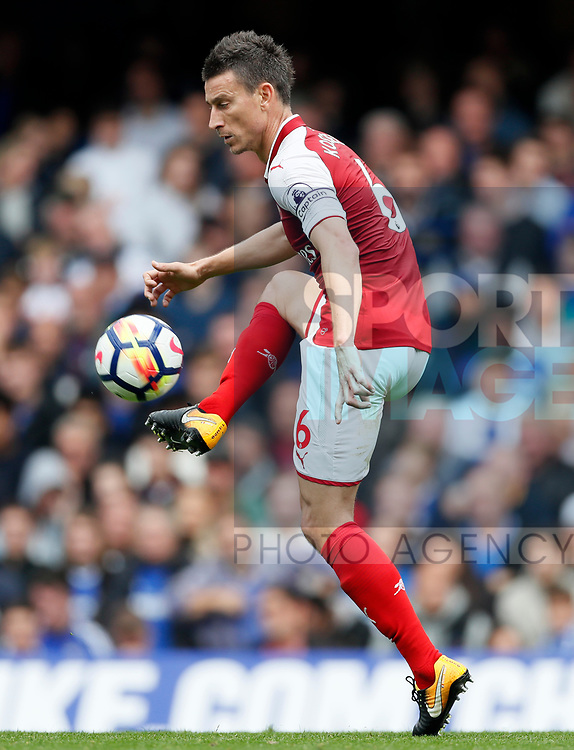 Arsenal's Laurent Koscielny in action during the premier league match at Stamford Bridge Stadium, London. Picture date 17th September 2017. Picture credit should read: David Klein/Sportimage