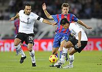 Basels Valentin Stocker gegen Flavio und Andrezinho © Melanie Duchene/EQ Images