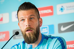 Bostjan Cesar during Press conference and official training of Slovenian national football team before friendly match against Belarus, on March 26, 2018 in National Football Centre, Brdo pri Kranju, Kranj, Slovenia. Photo by Ziga Zupan / Sportida