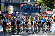Gianni Moscon (ITA - Team Sky), Christopher Froome (GBR - Team Sky), Michal Kwiatkowski (POL - Team Sky), Geraint Thomas (GBR - Team Sky), Jonathan Castroviejo (ESP - Team Sky), Egan Bernal (COL - Team Sky) during the 105th Tour de France 2018, Stage 15, Millau - Carcassonne (181,5 km) on July 22th, 2018 - Photo Luca Bettini / BettiniPhoto / ProSportsImages / DPPI