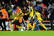 Olivier Giroud (12) of Arsenal celebrates scoring the equalising goal to make the score 3-3 during the Premier League match between Bournemouth and Arsenal at the Vitality Stadium, Bournemouth, England on 3 January 2017. Photo by Graham Hunt.