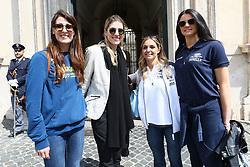 VALENTINA TIROZZI FRANCESCA PICCININI GIULIA LEONARDI E SERENA ORTOLANI<br /> PALLAVOLO CELEBRAZIONE COPPE EUROPEE VOLLEY 2018-2019 VINTE DALLE SQUADRE ITALIANE A PALAZZO CHIGI A ROMA<br /> ROMA 22-05-2019<br /> FOTO FILIPPO RUBIN