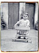 vintage early 1930s toddler supported walking