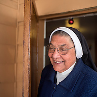 Mother Magda Garcia has worked and the Catholic Charities' immigration program in Gallup for thirty years and helped many refugees for Syria, Jordan and Egypt.