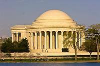 Jefferson Memorial, Cherry Tree Walk, Tidal Basin, Washington D.C., U.S.A.
