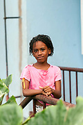 A portrait of Cagilda, 8, San Antonio, Sao Tome and Principe<br /> Sao Tome and Principe, are two islands of volcanic origin lying off the coast of Africa. Settled by Portuguese convicts in the late 1400s and a centre for slaving, their independence movement culminated in a peaceful transition to self government from Portugal in 1975.