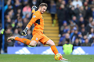 Goalkeeper Jack Butland of Stoke City in action. Barclays Premier league match, Chelsea v Stoke city at Stamford Bridge in London on Saturday 5th March 2016.<br /> pic by John Patrick Fletcher, Andrew Orchard sports photography.