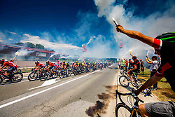 Peloton and the fans during 2nd Stage of 26th Tour of Slovenia 2019 cycling race between Maribor and  Celje (146,3 km), on June 20, 2019 in Celje, Maribor, Slovenia. Photo by Vid Ponikvar / Sportida