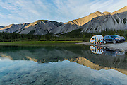 Camping at Muncho Lake, Alaska Highway, B.C. Canada