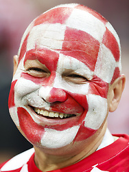 Fan of Croatia during the 2018 FIFA World Cup Russia Semi Final match between Croatia and England at the Luzhniki Stadium on July 01, 2018 in Moscow, Russia