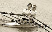 2005 FISA Rowing World Cup Munich,GERMANY. 18.06.2005; GER LW2X 2 Berit Carow [bow] and Laura Tasch..Photo  Peter Spurrier. .email images@intersport-images...[Mandatory Credit Peter Spurrier/ Intersport Images] Rowing Course, Olympic Regatta Rowing Course, Munich, GERMANY