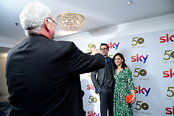 David Caves and Emilia Fox attending the TRIC Awards 2019 50th Birthday Celebration held at the Grosvenor House Hotel, London.