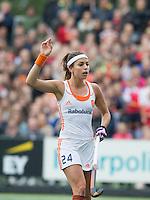 AMSTERDAM - Hockey - Eva de Goede (Neth).   Interland tussen de vrouwen van Nederland en Groot-Brittannië, in de Rabo Super Serie 2016 .  . COPYRIGHT KOEN SUYK