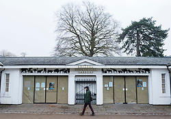 © Licensed to London News Pictures; 27/11/2020; Bristol, UK. GV today of the entrance to Bristol Zoo in Clifton. Bristol Zoo, which is temporarily closed during the Covid-19 coronavirus pandemic lockdown in England, has announced today that it will be leaving the historic Clifton site in 2022 after 180 years there, and will relocate to its other premises the Wild Place Project near Cribbs Causeway. Bristol Zoological Society, which owns and operates both Bristol Zoo Gardens and Wild Place Project, says the move will create a world-class zoo and will safeguard the future of the organisation. The Clifton site will be sold. The Zoo says this follows years of declining visitor numbers to Bristol Zoo Gardens and the organisation having made an operating loss in four of the last six years. The plans have been announced after the second lockdown forced Bristol Zoo Gardens and Wild Place Project to close, after months of closure during the peak spring and summer months. Photo credit: Simon Chapman/LNP.