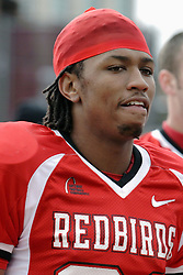 04 November 2006: Laurent Robinson.&#xD;In a decisive victory, the Illinois State Redbirds defeat the Missouri State Bears 38-14 at Hancock Stadium on the campus of Illinois State University in Normal Illinois.<br />