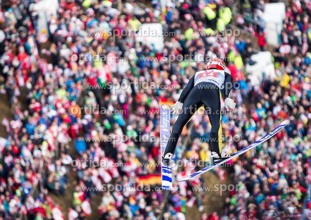 06.01.2014, Paul Ausserleitner Schanze, Bischofshofen, AUT, FIS Ski Sprung Weltcup, 62. Vierschanzentournee, Probesprung, im Bild Andreas Wellinger (GER) // Andreas Wellinger (GER) during Trial Jump of 62nd Four Hills Tournament of FIS Ski Jumping World Cup at the Paul Ausserleitner Schanze, Bischofshofen, Austria on 2014/01/06. EXPA Pictures © 2014, PhotoCredit: EXPA/ JFK