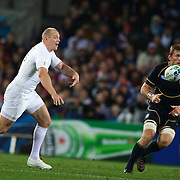 Mike Tindall, England, in action during the England V Scotland Pool B match during the IRB Rugby World Cup tournament. Eden Park, Auckland, New Zealand, 1st October 2011. Photo Tim Clayton...