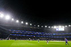 General View as Son Heung-Min of Tottenham Hotspur warms up - Rogan/JMP - 01/10/2019 - FOOTBALL - Tottenham Hotspur Stadium - London, England - Tottenham Hotspur v Bayern Munich - UEFA Champions League Group B.
